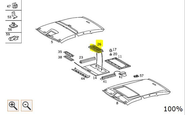 mercedes sunroof parts diagram  u2022 wiring diagram for free